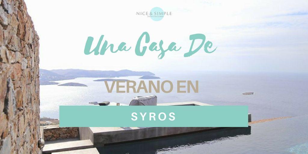 Una Casa De Verano En Syros